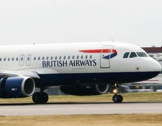 Aerial Drone Crash Lands into a British Airplane