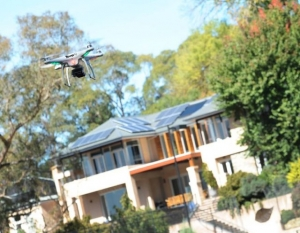 Drone Flying Over a Property