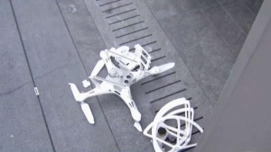 Drone Crash Outside Millennium Tower